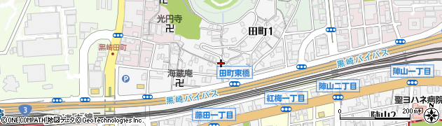 福岡県北九州市八幡西区田町周辺の地図