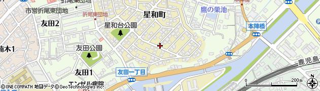 福岡県北九州市八幡西区星和町周辺の地図