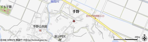 福岡県遠賀郡岡垣町手野747周辺の地図