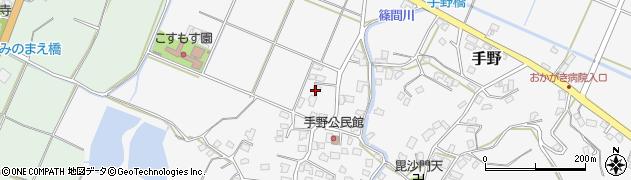 福岡県遠賀郡岡垣町手野440周辺の地図