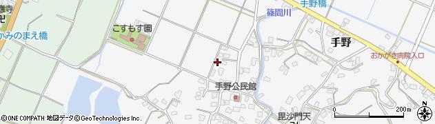 福岡県遠賀郡岡垣町手野438周辺の地図