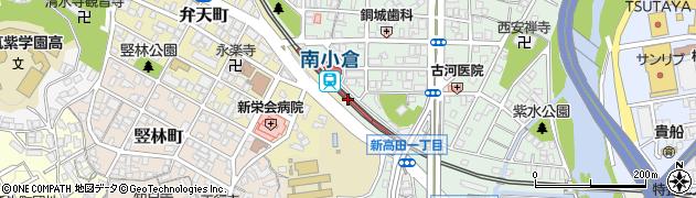 福岡県北九州市小倉北区周辺の地図