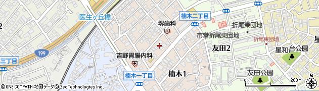 福岡県北九州市八幡西区楠木周辺の地図