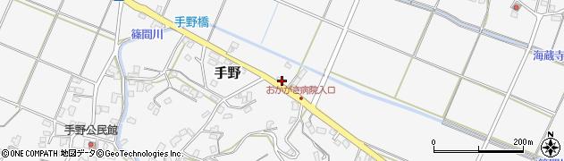 福岡県遠賀郡岡垣町手野498周辺の地図