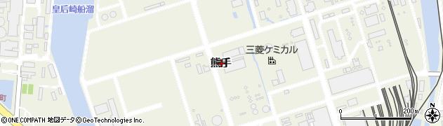 福岡県北九州市八幡西区熊手周辺の地図