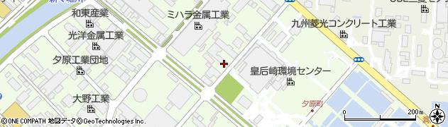 福岡県北九州市八幡西区夕原町周辺の地図