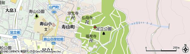 福岡県北九州市小倉北区寿山町周辺の地図