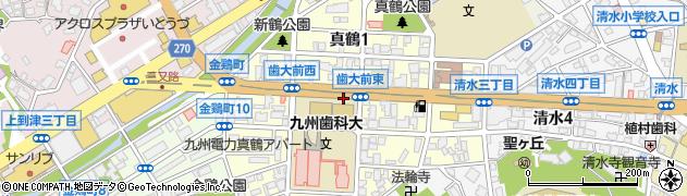 福岡県北九州市小倉北区真鶴周辺の地図