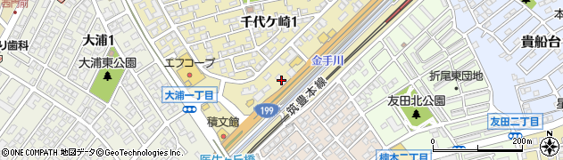ろくの家千代ヶ崎店周辺の地図