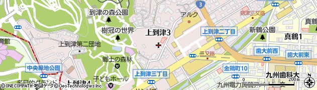 福岡県北九州市小倉北区上到津周辺の地図