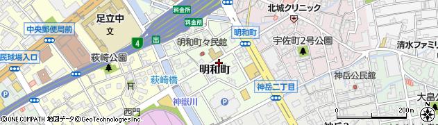 福岡県北九州市小倉北区明和町周辺の地図