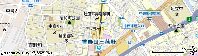 福岡県北九州市小倉北区香春口周辺の地図