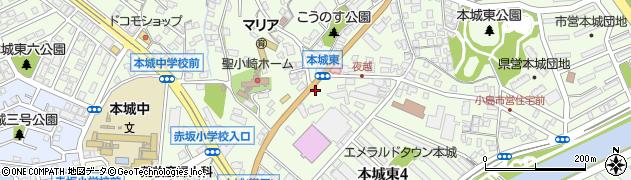福岡県北九州市八幡西区本城東周辺の地図