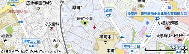 福岡県北九州市小倉北区原町周辺の地図