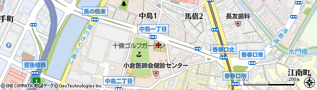 福岡県北九州市小倉北区中島周辺の地図