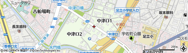 福岡県北九州市小倉北区中津口周辺の地図