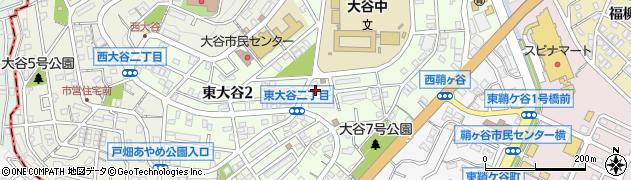 福岡県北九州市戸畑区東大谷周辺の地図