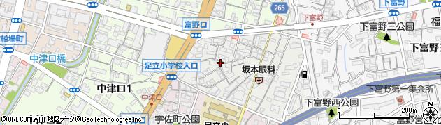 福岡県北九州市小倉北区大田町周辺の地図