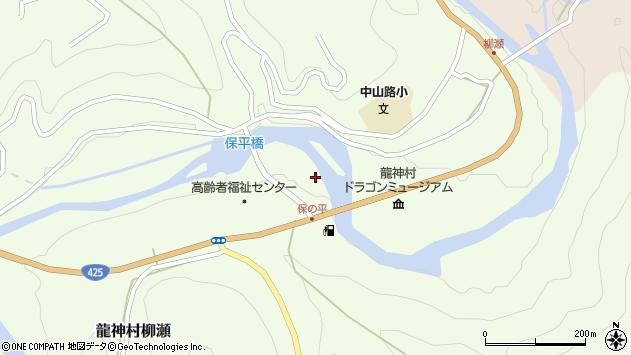 〒645-0417 和歌山県田辺市龍神村柳瀬の地図