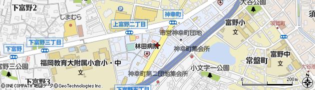 福岡県北九州市小倉北区神幸町周辺の地図