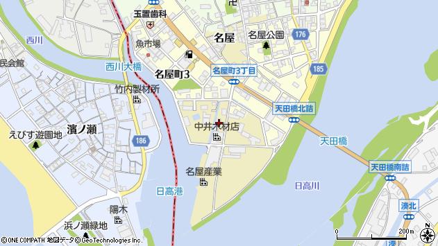 〒644-0004 和歌山県御坊市名屋の地図
