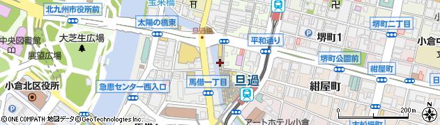 有限会社江里口商事 旦過店周辺の地図