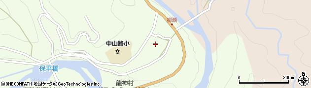 和歌山県田辺市龍神村柳瀬周辺の地図