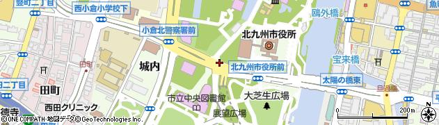 福岡県北九州市小倉北区城内周辺の地図