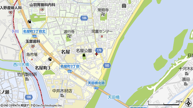 〒644-0005 和歌山県御坊市名屋町の地図