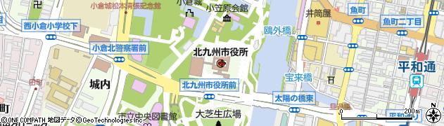 北九州市周辺の地図