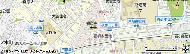 福岡県北九州市戸畑区観音寺町周辺の地図