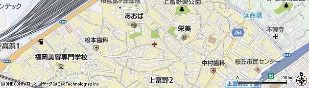 福岡県北九州市小倉北区上富野周辺の地図