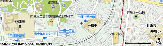 福岡県北九州市戸畑区一枝周辺の地図