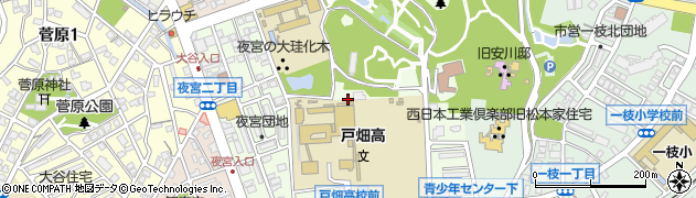 福岡県北九州市戸畑区夜宮周辺の地図