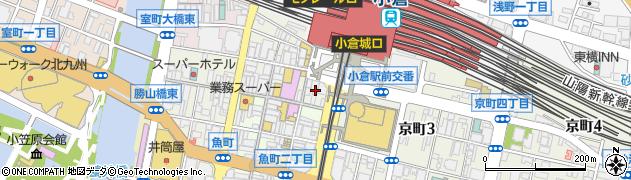 ひなた 小倉魚町店周辺の地図