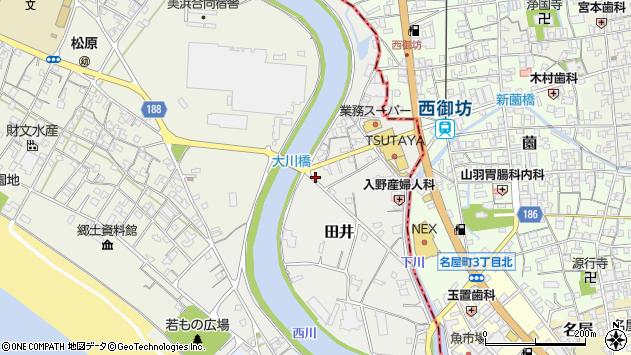 〒644-0041 和歌山県日高郡美浜町田井の地図