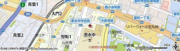 福岡県北九州市小倉北区大門周辺の地図