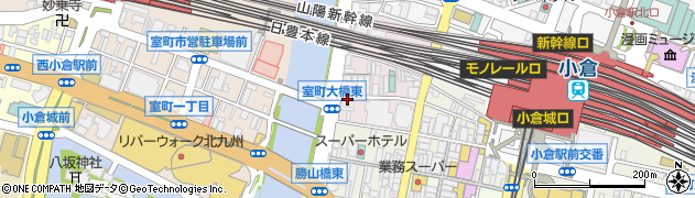 福岡県北九州市小倉北区船頭町周辺の地図
