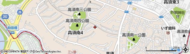 福岡県北九州市若松区高須南周辺の地図