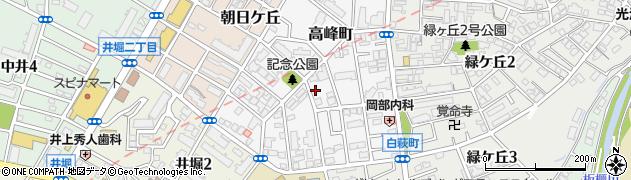 福岡県北九州市小倉北区高峰町8周辺の地図