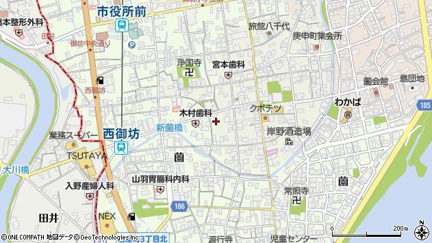 〒644-0001 和歌山県御坊市御坊の地図