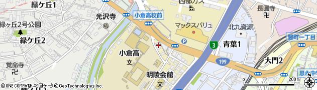 福岡県北九州市小倉北区愛宕周辺の地図