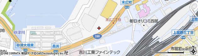 福岡県北九州市小倉北区末広周辺の地図