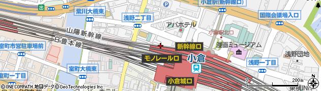 タイムズ小倉エキナカひまわりプラザ駐車場周辺の地図