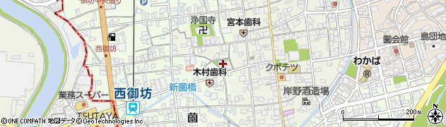 天性寺周辺の地図