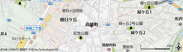 福岡県北九州市小倉北区高峰町6周辺の地図