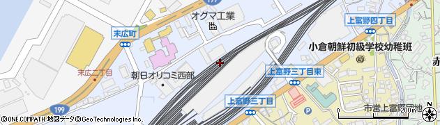 福岡県北九州市小倉北区高浜周辺の地図
