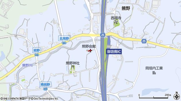 〒644-0033 和歌山県御坊市熊野の地図