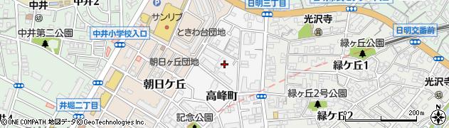 福岡県北九州市小倉北区高峰町4周辺の地図