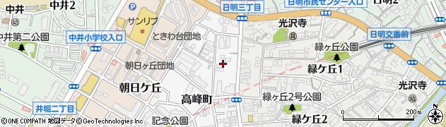福岡県北九州市小倉北区高峰町2周辺の地図